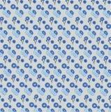Fondo con las flores azules stock de ilustración