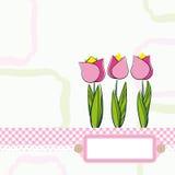 Fondo con las flores de la historieta. Foto de archivo libre de regalías
