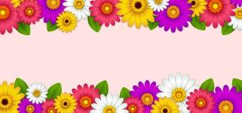 Fondo con las flores hermosas ilustración del vector