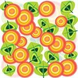 Fondo con las flores retras Imagen de archivo libre de regalías