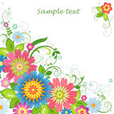 Fondo con las flores Imágenes de archivo libres de regalías