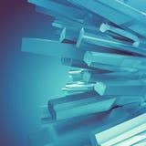 Fondo con las formas cristalinas azules árticas 3d ilustración del vector
