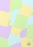 Fondo con las hojas coloreadas del cuaderno imagenes de archivo