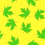 Fondo con las hojas de arce verdes libre illustration