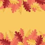 Fondo con las hojas de otoño Fotos de archivo libres de regalías