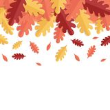 Fondo con las hojas de otoño Ilustración del vector Fotografía de archivo libre de regalías