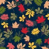 Fondo con las hojas de otoño multicoloras Ilustración del vector Imagenes de archivo