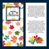 Fondo con las hojas de otoño multicoloras Ilustración del vector Foto de archivo libre de regalías