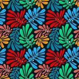 Fondo con las hojas de palma Modelo inconsútil tropical con Mons stock de ilustración
