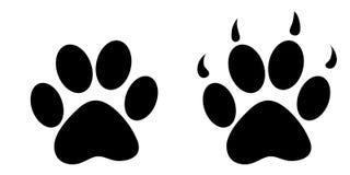 Fondo con las impresiones de los pasos de los osos Foto de archivo libre de regalías