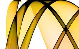 Fondo con las líneas amarillas Stock de ilustración