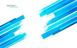 Fondo con las líneas azules Foto de archivo libre de regalías