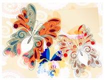 Fondo con las mariposas Imagen de archivo