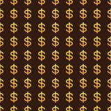 Fondo con las muestras de dólar de oro stock de ilustración