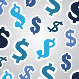 Fondo con las muestras de dólar - diseño de concepto del negocio Fotos de archivo