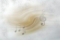 Fondo con las notas musicales Imagenes de archivo