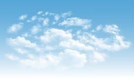 Fondo con las nubes en el cielo azul ilustración del vector