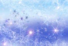 Fondo con las nubes y las estrellas Foto de archivo libre de regalías
