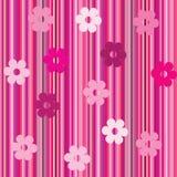 Fondo con las rayas y flowersd-1 Foto de archivo
