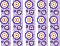 Fondo con las rayas y los círculos Imagen de archivo libre de regalías