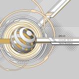 Fondo con las rayas y los círculos Imagen de archivo