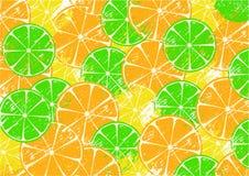 Fondo con las rebanadas de frutas Imagen de archivo libre de regalías