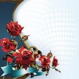 Fondo con las rosas rojas Fotografía de archivo libre de regalías