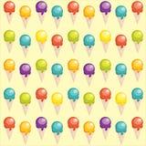 Fondo con las tazas del helado de la historieta Imagen de archivo libre de regalías