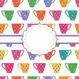 Fondo con las tazas multicoloras Fotos de archivo