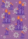 Fondo con las velas Ilustración del Vector