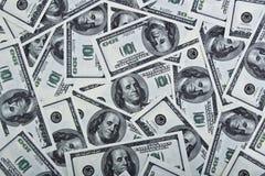 Fondo con le banconote in dollari Immagini Stock Libere da Diritti