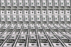 Fondo con le banconote in dollari Fotografie Stock