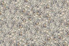 Fondo con le banconote in dollari dell'americano cento dei soldi Immagine Stock
