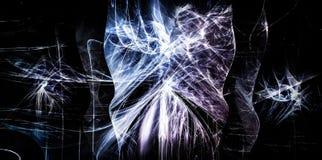 Fondo con le bande di cristallo di caos Fotografie Stock