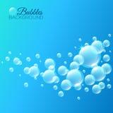 Fondo con le bolle sotto acqua Immagini Stock