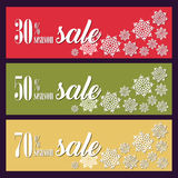 Fondo con le decorazioni di Natale per le insegne, pubblicità, opuscolo, carte, invito ecc Fotografia Stock