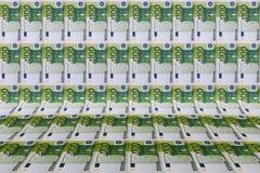 Fondo con le euro fatture Fotografie Stock Libere da Diritti