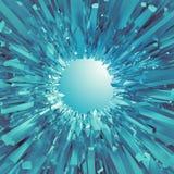 Fondo con le forme di cristallo blu artiche 3d Immagini Stock Libere da Diritti