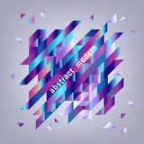 Fondo con le forme geometriche di pendenza - insegna moderna con gli elementi di colori fluidi illustrazione vettoriale