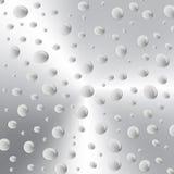 Fondo con le gocce di acqua su metallo Immagine Stock