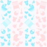 Fondo con le icone per neonato Fotografia Stock
