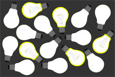Fondo con le lampadine Immagine Stock