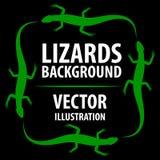 Fondo con le lucertole illustrazione vettoriale