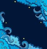 Fondo con le nuvole blu su un cielo Immagini Stock Libere da Diritti