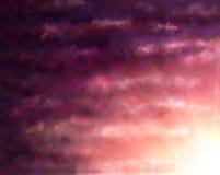 Fondo con le nuvole ed il tramonto Fotografia Stock