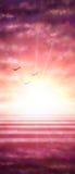 Fondo con le nuvole ed il tramonto Immagine Stock Libera da Diritti