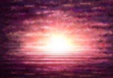Fondo con le nuvole ed il tramonto Fotografie Stock Libere da Diritti