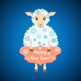 Fondo con le pecore Fotografia Stock