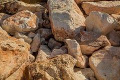 Fondo con le pietre Fotografia Stock
