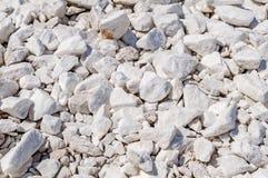 Fondo con le pietre di marmo bianche Fotografia Stock